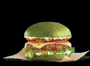 Pride burgers - The Proud burger με πράσινο ψωμί green bun μπεργκερ Goody's Delivery