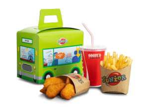 junior γεύμα με κοτόπουλο, παιδικό μενού Goody's delivery
