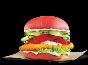 Pride burgers - The Loud burger με κόκκινο ψωμί red bun μπεργκερ Goody's Delivery