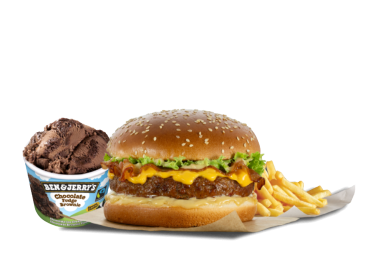 Burger με πατάτες country & Παγωτό Ben and Jerry's - Προσφορές Delivery Deals Goody's