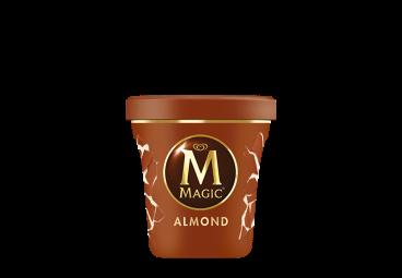παγωτο magic almond ice cream